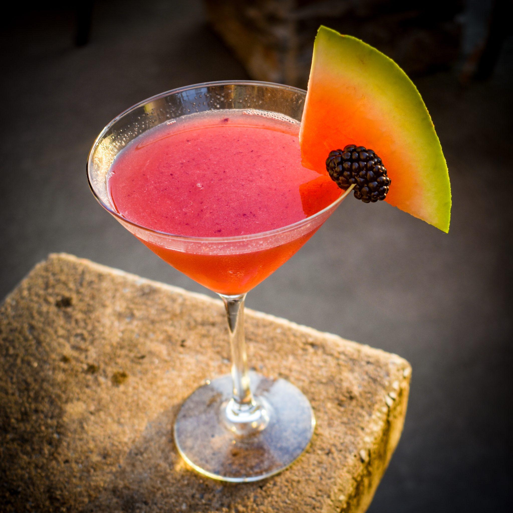watermelon blackberry martini