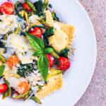 These Ravioli with Veggies and Lemon Sauce