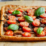 Caramelized onion tomato tart