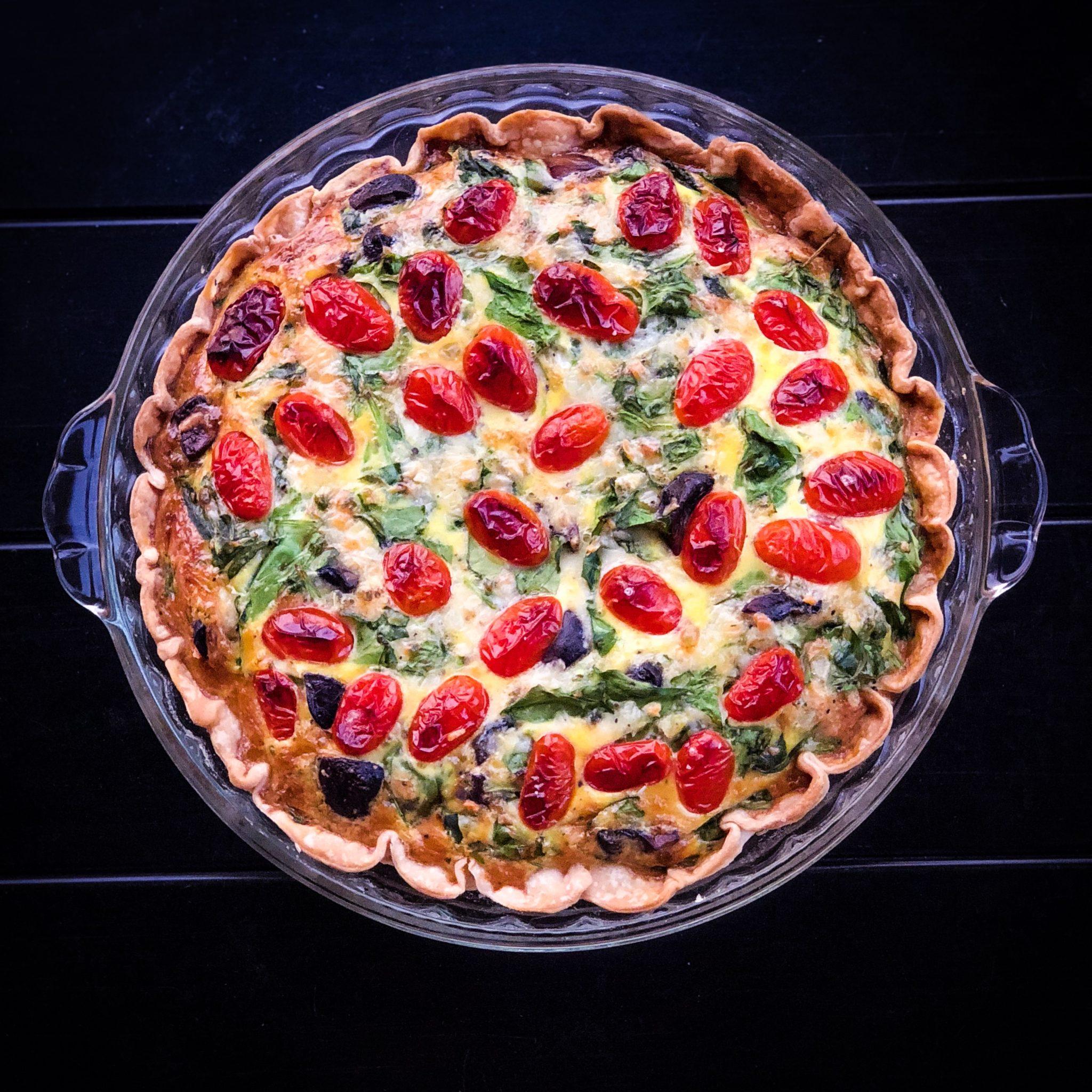veggie cheese quiche