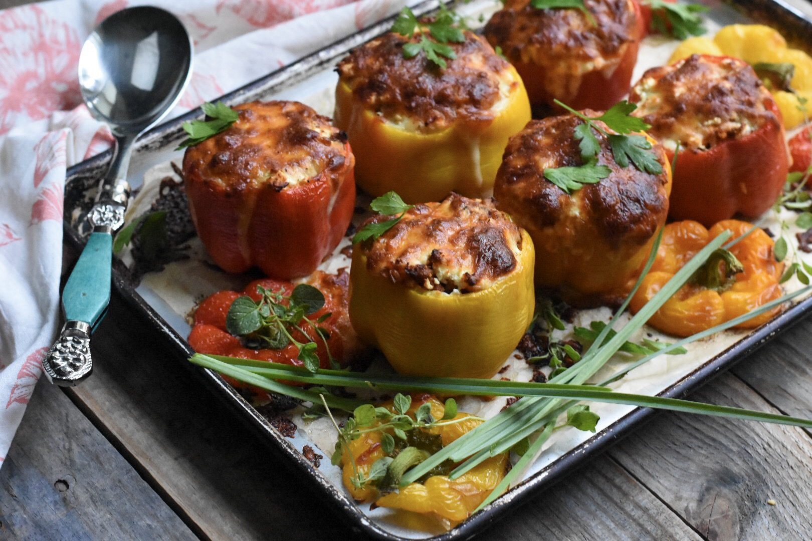 Platter of stuffed peppers