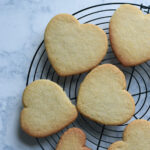 heart shaped cut out sugar cookies