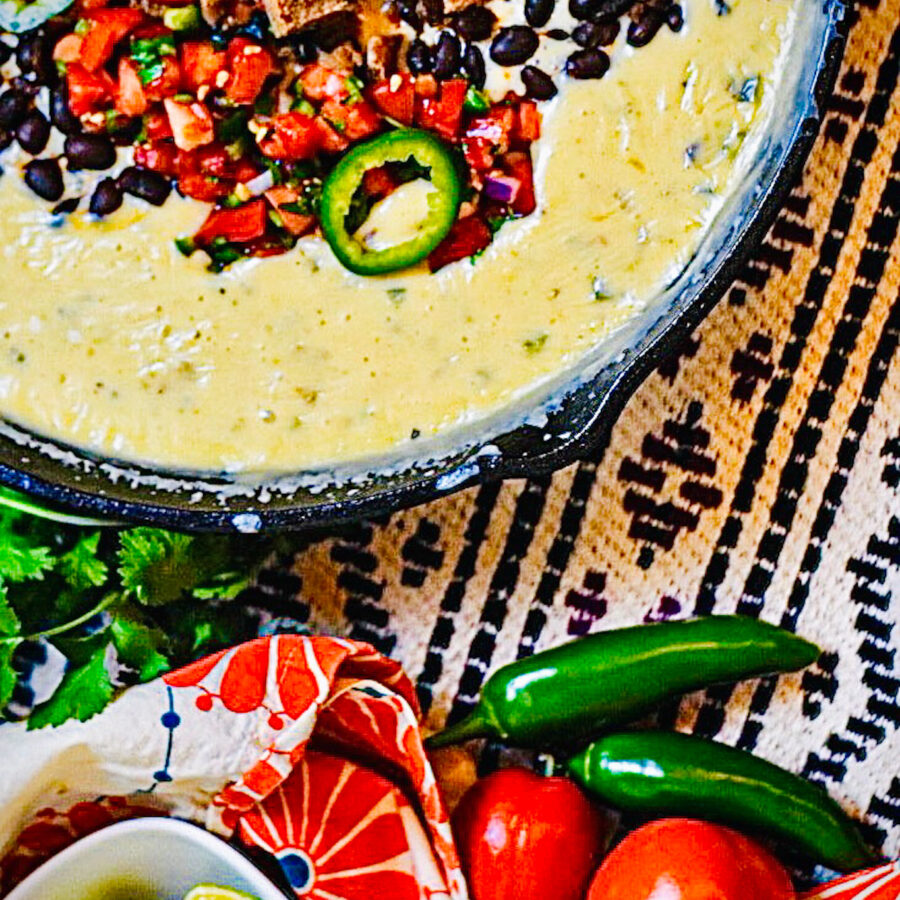 smoked beef brisket queso