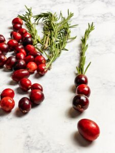 Cranberries & rosemary