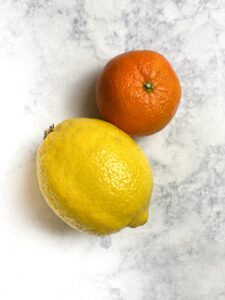 lemon and mandarine orange
