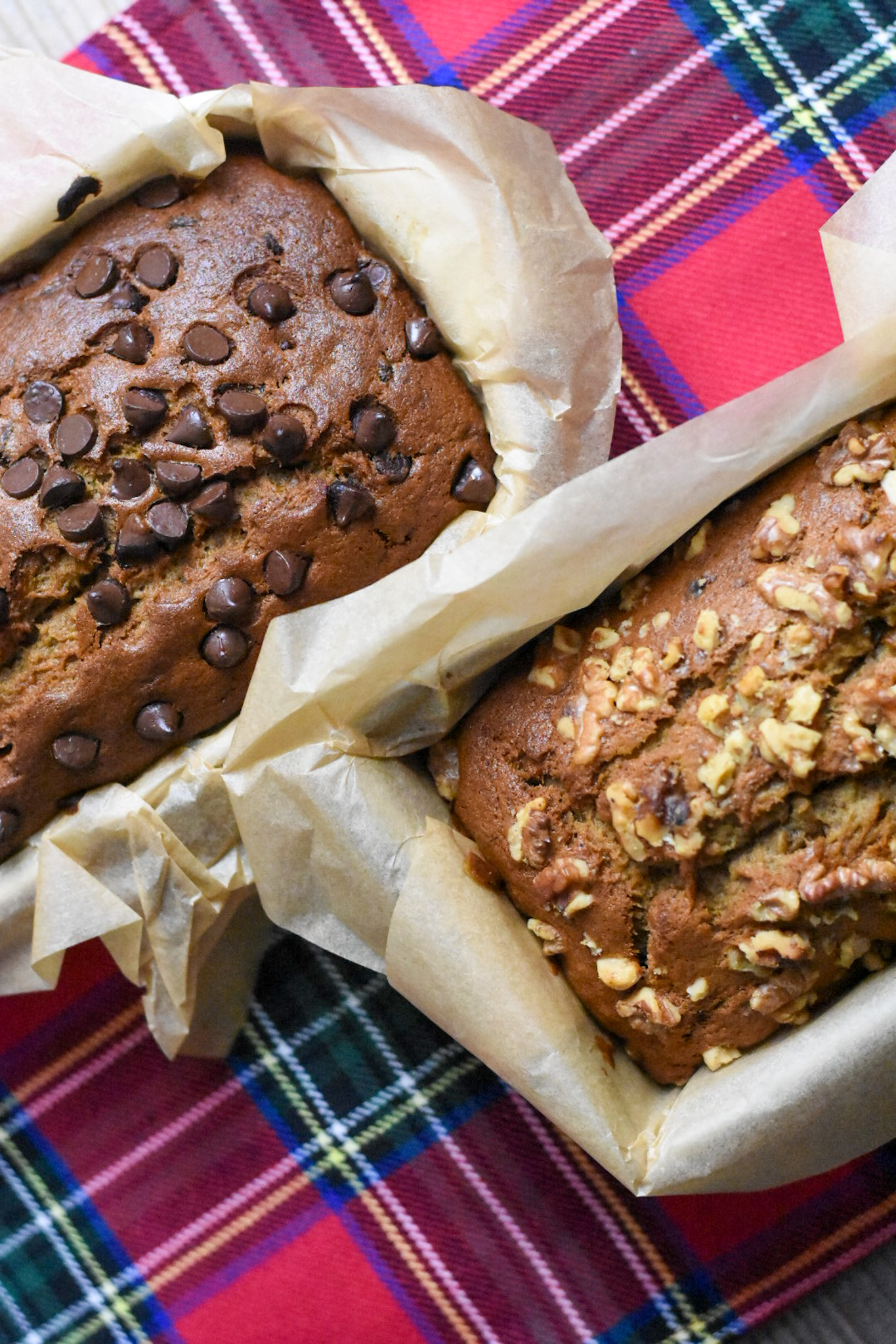 chocolate chip and banana nut bread