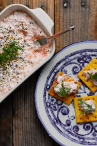 Smoked Salmon Spread with Chili-Lime Crackers