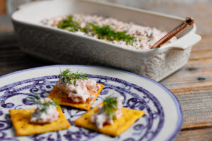 Smoked Salmon Spread and Chili-Lime Ranch Crackers