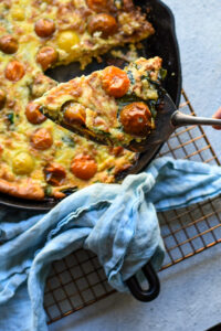 Bacon, Tomato, Spinach Frittata