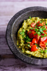 Caramelized onion guacamole