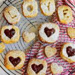 pistachio shortbread sandwich cookies
