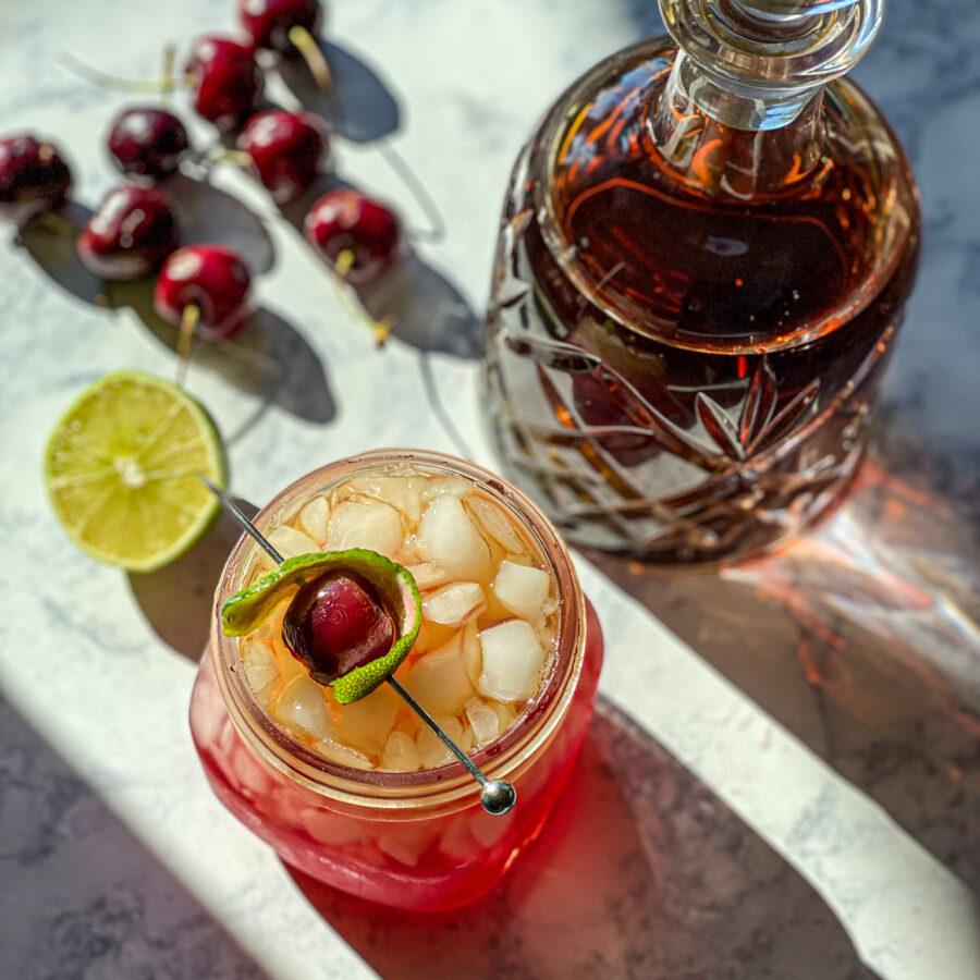 Cherry Bourbon Smash