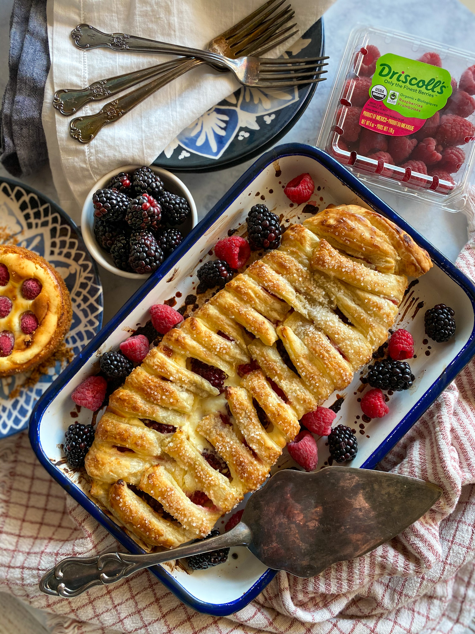 Mixed Berry Cream Cheese Danish