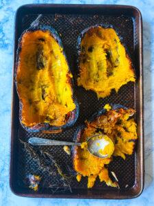 roasted butternut squash skin