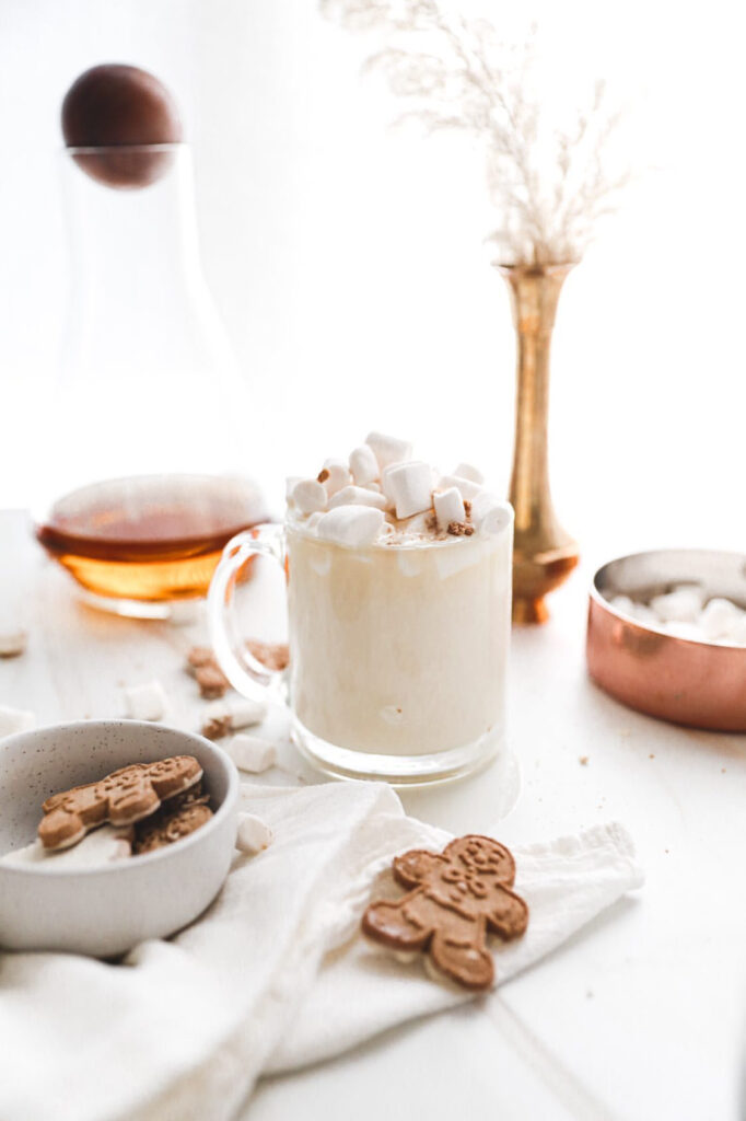 White Hot Chocolate with Bourbon
