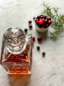 Bourbon, Cranberries and rosemary
