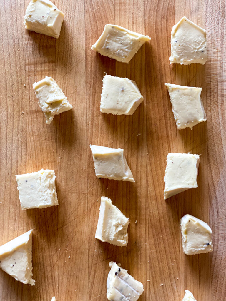 Brie cut into small pieces