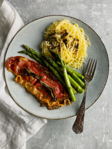 Date Night Dinner ofVeal Saltimbocca and