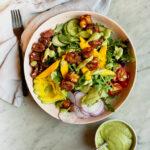 mango chicken salad with avocado cilantro dressing