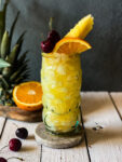 Mai Tai with orange and pineapple